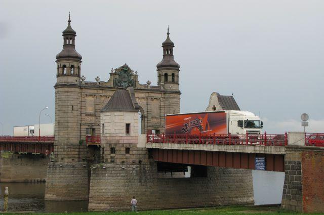 Мост Королевы Луизы в Совестке - граница между Россией и Литвой.