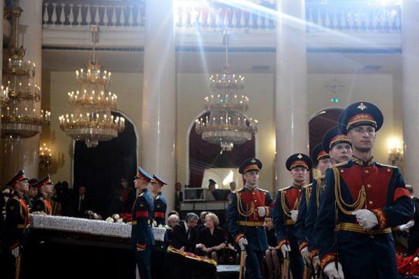 Церемония прощания с политиком Евгением Примаковым в Колонном зале Дома Союзов