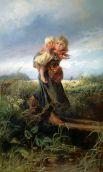 В 1870 году художник становится одним из основателей «Товарищества передвижных художественных выставок», продолжая работать над картинами с сюжетами из повседневной жизни. В это время художник создает полотно «Дети, бегущие от грозы» (1872).