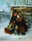 В 1863 году Маковский наряду с 13 другими студентами был выбран участником конкурса на Большую золотую медаль Академии. Художник отказался писать полотно на тему Скандинавской мифологии и покинул Академию, не получив диплома.