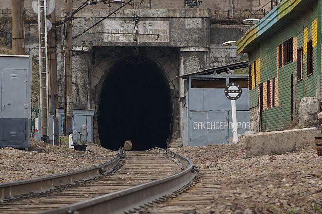 Въезд в тоннель имени Сталина со стороны Луговой.