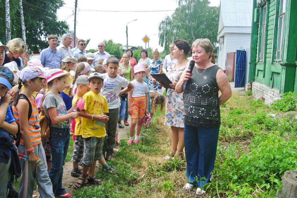 Собравшихся поздравляет зам.гл главы Администрации И.В.Баканова.