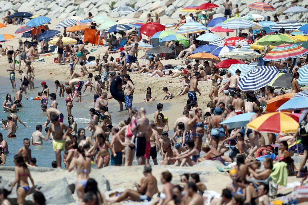 Пляж Барселоны.