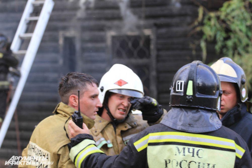 Пожарные не смогли отстоять дом.