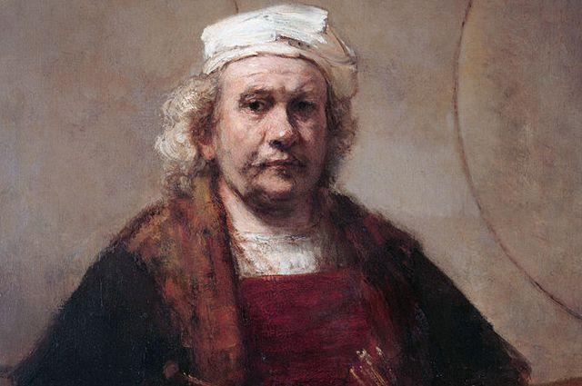 Автопортрет (1665-1669) Рембрандт.