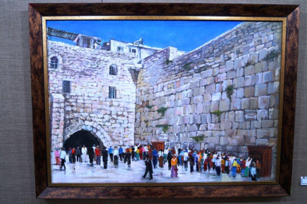 Белый камень Иерусалима завораживает художника