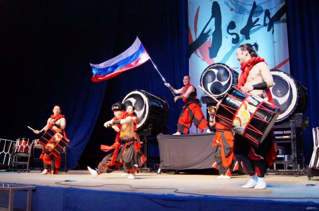 Концерт японских барабанщиков в Хабаровске