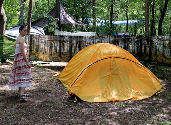 Покупка новой палатки на