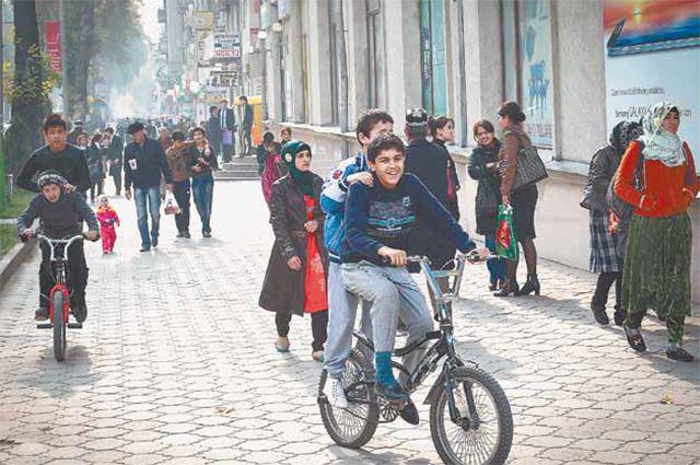 На улицах Душанбе.