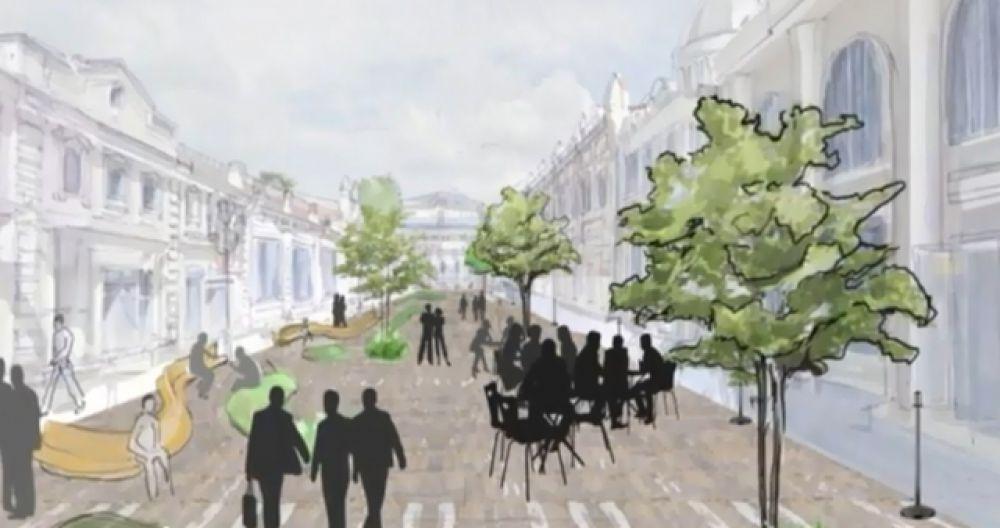Пешеходная улица Урицкого тоже должна быть облагорожена. Улица может стать визитной карточкой города, если очистить ее от стихийной торговли и привести все торговые заведения к стандартам внешнего вида.