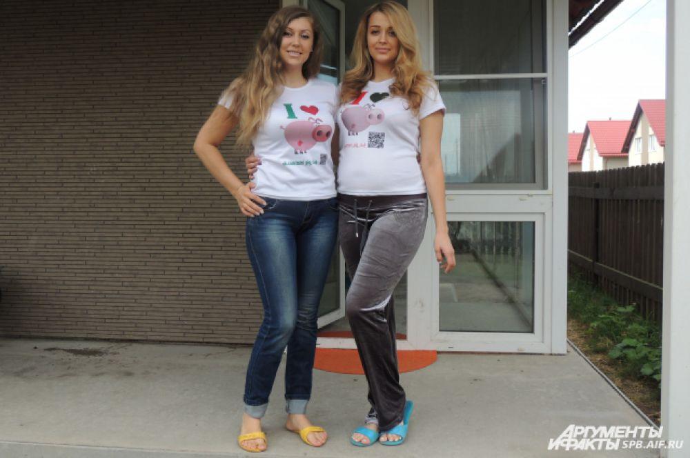 Елизавета и Анна Родины держат дома мини-пигов.