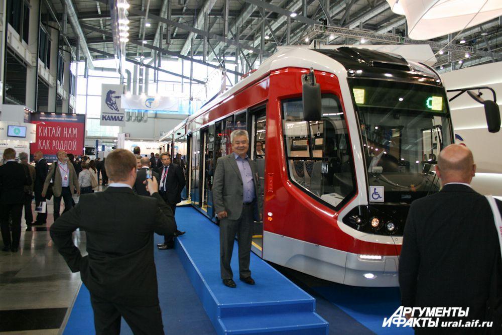 Низкопольный трамвай.