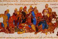 Печенеги убивают князя Святослава Игоревича.