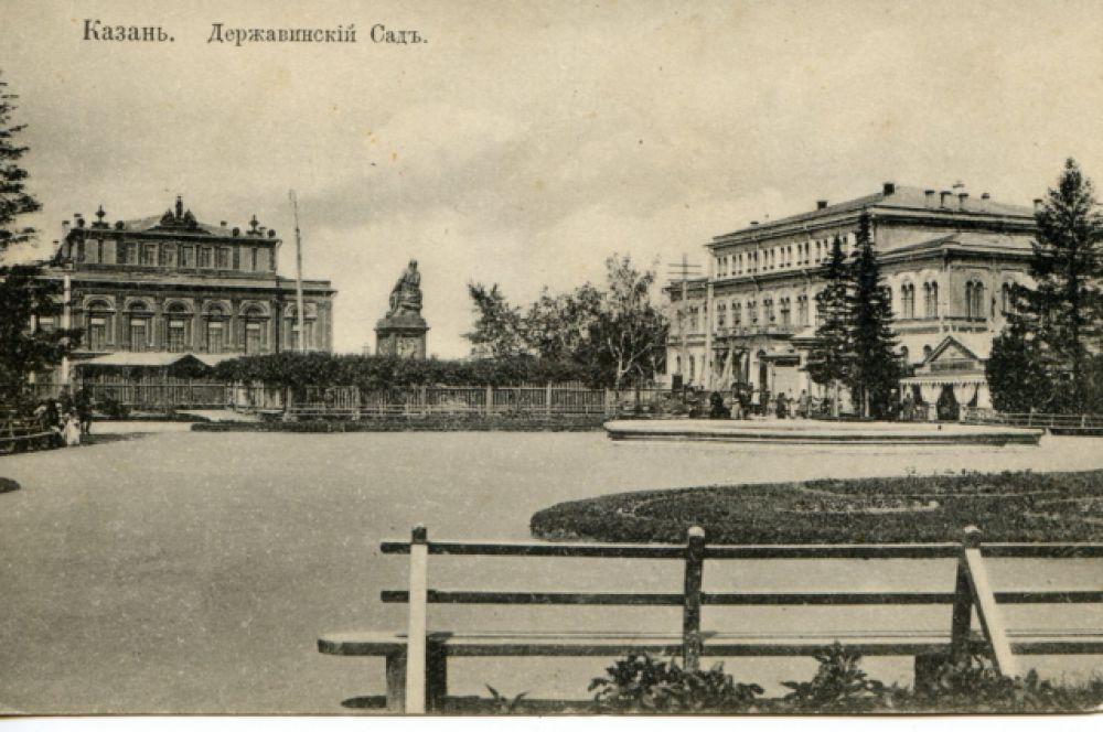 Державинский сад - памятник Державину рядом с городским театром (ныне не существующий).