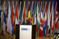 На сессии ОБСЕ в Хельсинки.