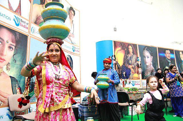 В Омске проходит выставка товаров из Индии.