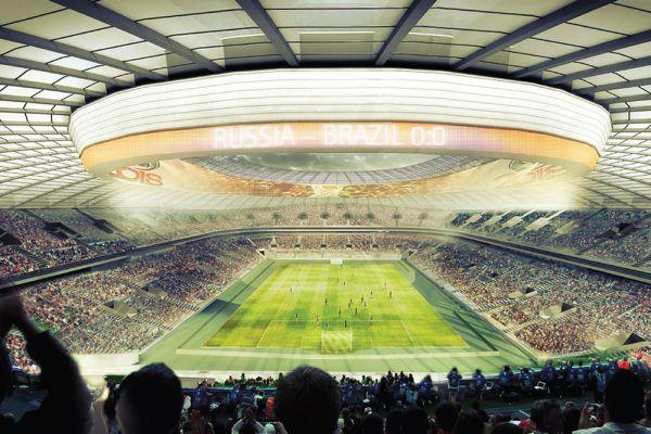 Макет «Лужников» восхищает грандиозными размерами будущей арены. БСА «Лужники» в Москве активно реконструируется за счет мэрии. Реконструкция стадиона обойдется в 350 миллионов евро.