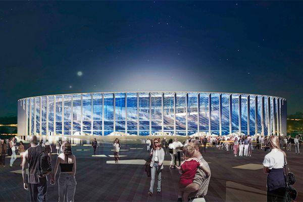 На строительство стадиона в Нижнем Новгороде планируется потратить 17 млрд рублей. Начали строительство в ноябре 2014 года. Планируется, что закончится строительство в сентябре 2017-го.