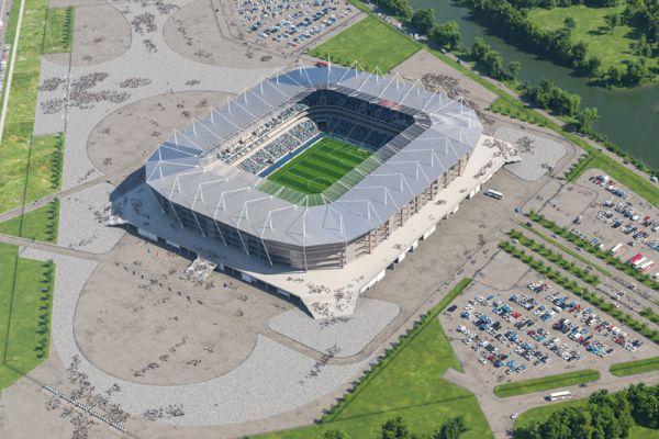 Стадион в Калининграде с рабочим названием «Арена Балтика» появится на Солнечном бульваре острова Октябрьский, который расположен в центральной части города между рек Новая и Старая Преголя.