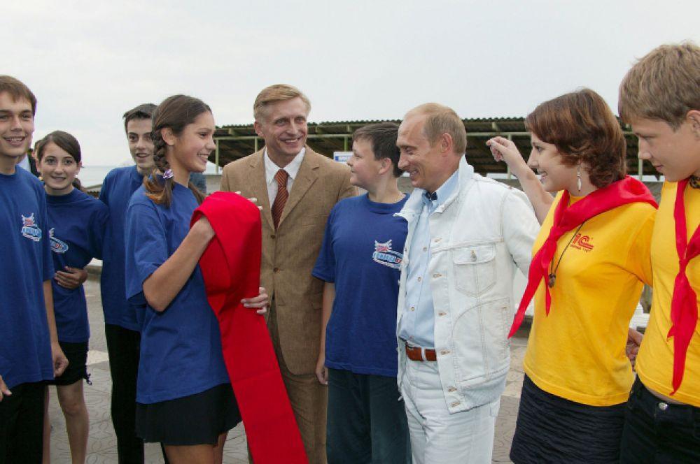 Приезд Владимира Путина. 2003 год.