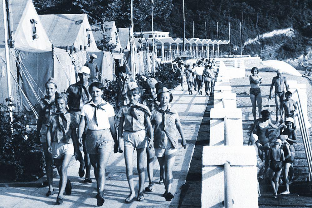 Первый лагерь Орленка «Солнечный». 1960 год.
