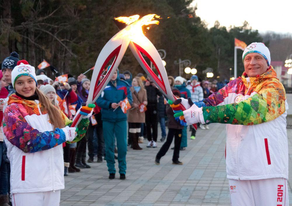«Орленок» принимает олимпийскую эстафету. 2014 год.
