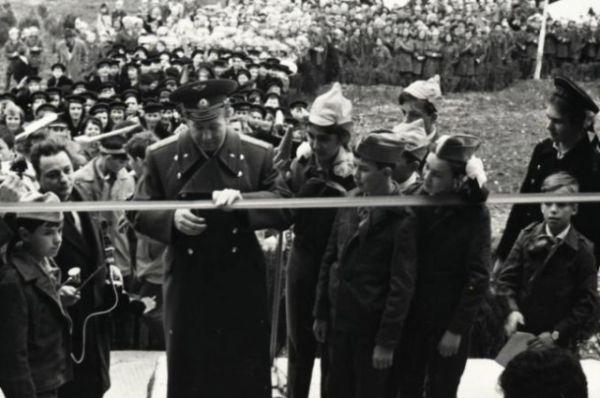 Космонавт Алексей Леонов в Орленке. 1969 год.