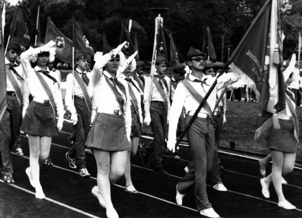 Знаменный отряд. 1985 год.