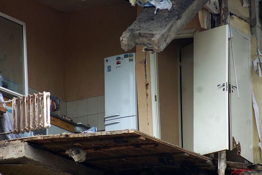 Обрушилась часть дома, где располагались кухни.