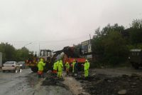 Ведётся расчистка дорог во Владивостоке.