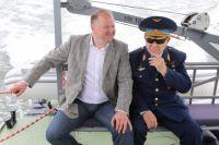 Алексей Леонов и врио губернатора Калининградской области Николай Цуканов.