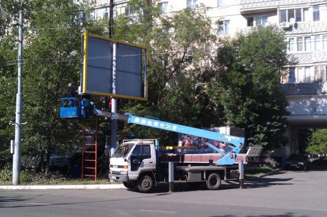 Рекламных конструкций в Новосибирске стало меньше на треть