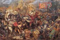 Ян Матейко. Фрагмент картины «Грюнвальдская битва», 1878 г.