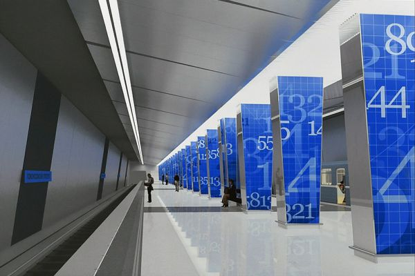 Станция «Ломоносовский проспект» Калининско-Солнцевской линии откроется в 2016 году. Станция располагается на участке между станциями «Парк Победы» и «Раменки». Этот участок является частью формирующейся Калининско-Солнцевской линии метрополитена. Калининско-Солнцевская линия станет продолжением действующей Калининской линии метро. В 2015 году от станции «Третьяковская» линия будет продлена до станций «Деловой центр» и «Парк Победы». Пассажиропоток: 70 тысяч человек в сутки.