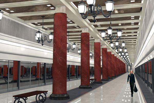 Станция «Лефортово» Третьего пересадочного контура откроется в 2017 году.