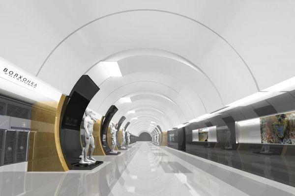 Станция «Волхонка» Калининско-Солнцевской линии будет открыта в 2020 году. Пассажиропоток станции составит 150 тысяч человек в сутки, в утренние и вечерние часы пик - 15,2 тысячи человек в час.