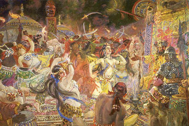«Половецкие пляски».1955. Александр Герасимов