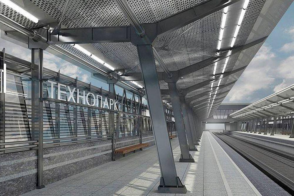 Станция «Технопарк» Замоскворецкой линии появится в 2015 году. «Технопарк» отличается от других станций тем, что она наземная. Ее особенность также в том, что платформы идут по бокам, а поезда проходят посередине. На первоначальном этапе у станции будет один наземный вестибюль - северный. С южного торца будет организован выход в город. Переход с платформы на платформу предусмотрен через верхний этаж вестибюля, связанный с платформами эскалаторами. Для маломобильных групп населения предусмотрен лифт. Пассажиропоток: 20 тыс. человек в час.