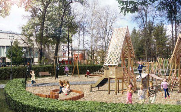 Детские площадки в Лядском саду