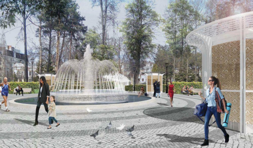 Центральная площадь в Лядском саду
