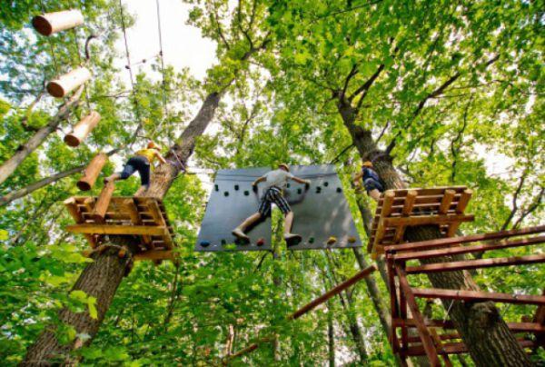 Веревочный экстрим-парк в парке Горького