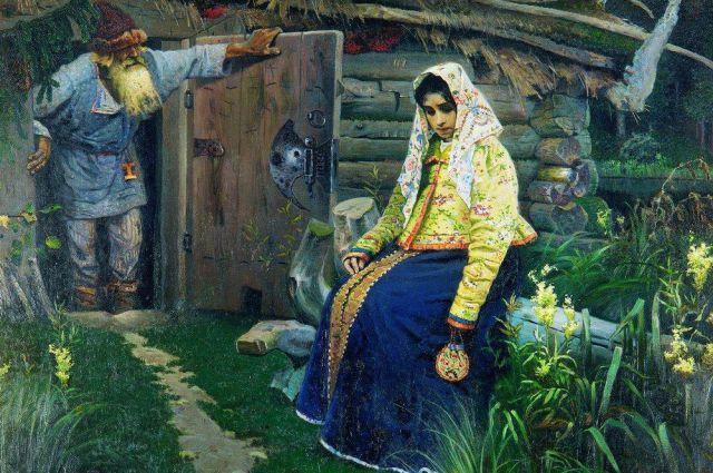 Михаил Нестеров. За приворотным зельем. 1888 год.