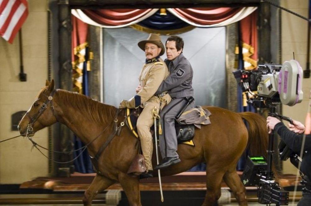 В комедийной франшизе «Ночь в музее» Робин Уильямс исполнил роль ожившего президента США Теодора Рузвельта.