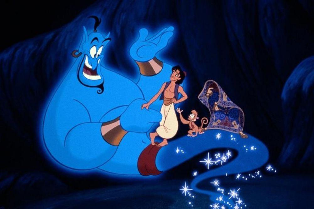 В начале 90-х Робин Уильямс озвучил Джина в нашумевшем мультфильме студии Уолта Диснея «Аладдин».