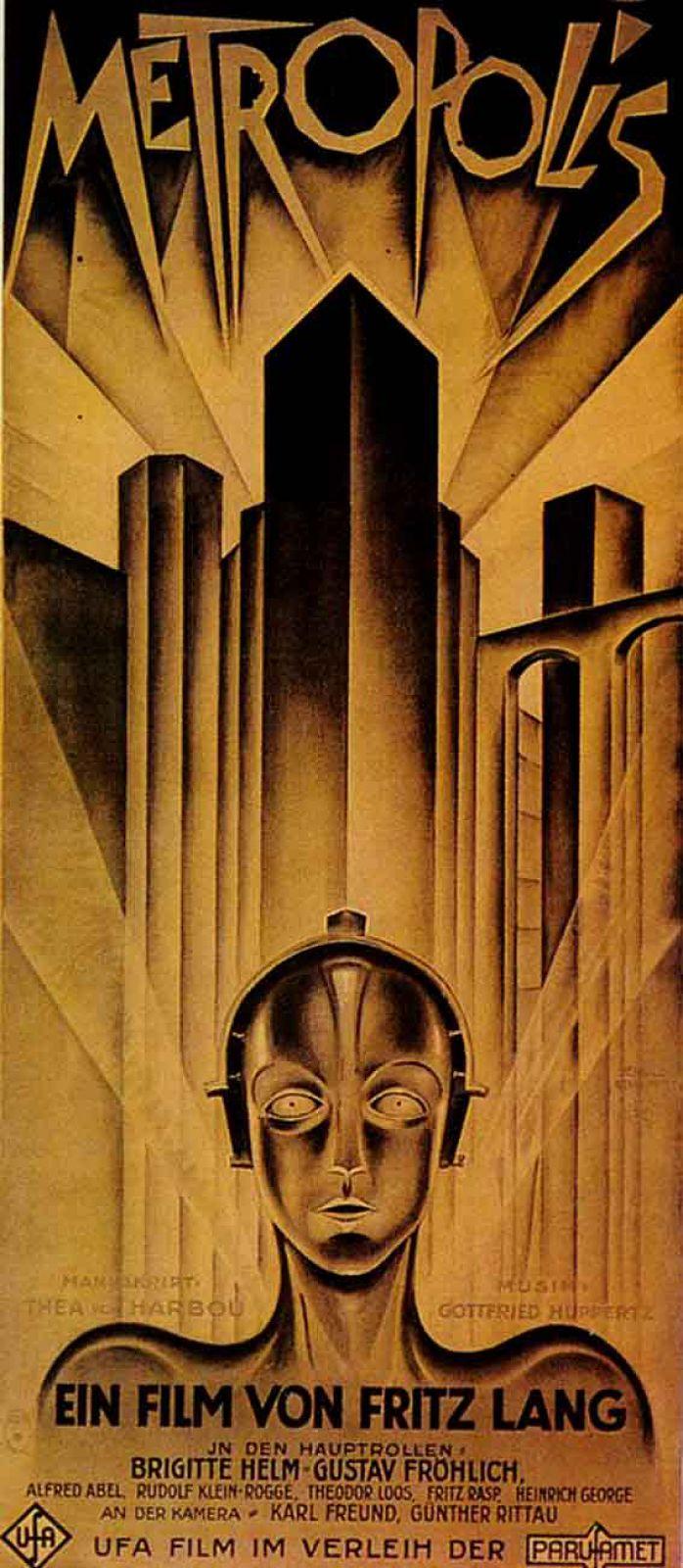Выполненная в стиле конструктивизма редкая афиша ленты «Метрополис» (Metropolis, 1927) режиссера Фрица Ланга была приобретена за $5 тыс.