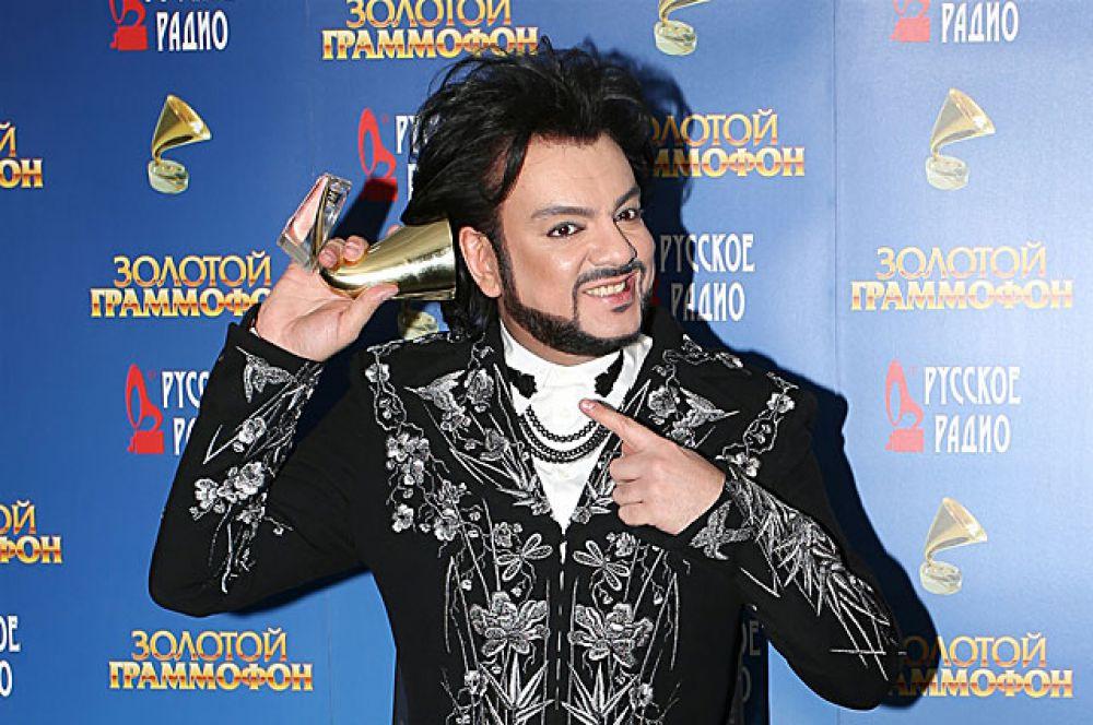 Второе место в рейтинге занял певец Филипп Киркоров с доходом в 10,4 млн долларов (четвертое место по доходу), упоминался в СМИ около 2,8 тыс. раз и набрал более 6 млн запросов.