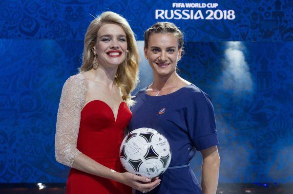 Топ-модель Наталья Водянова и двукратная олимпийская чемпионка, заслуженный мастер спорта России по легкой атлетике Елена Исинбаева.