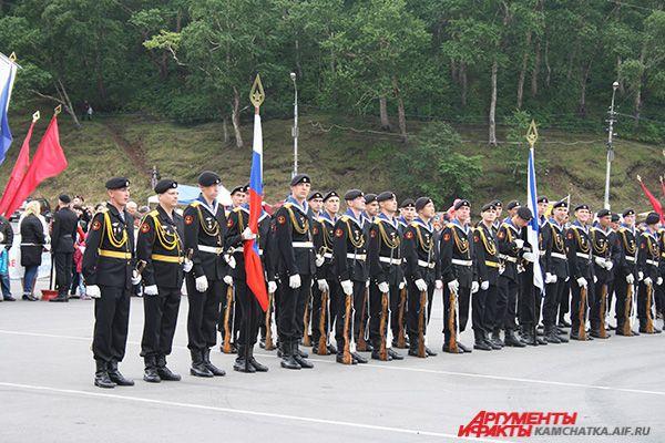 На главной площади Петропавловска прошла торжественная часть праздника.