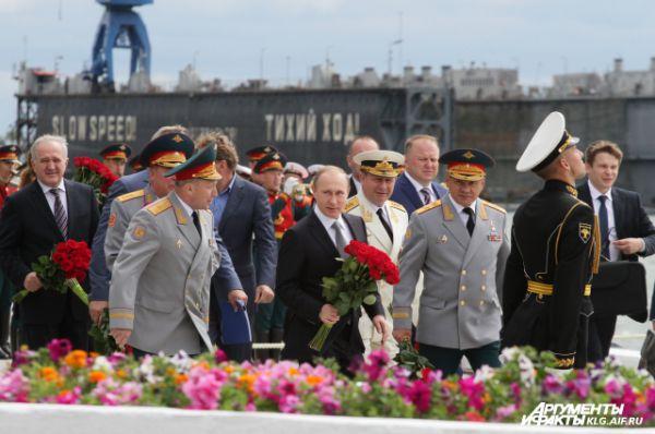 Президент РФ Владимир Путин в Балтийске.