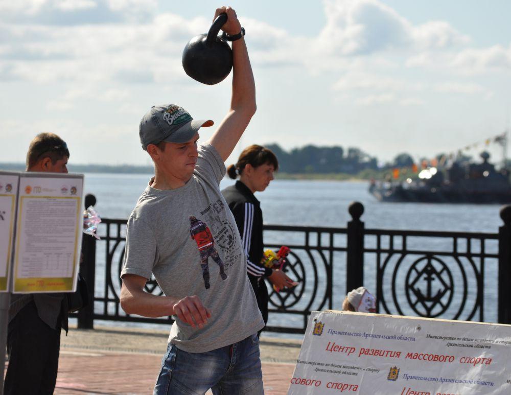 Министерством молодёжи Поморья была организована площадка по сдаче норм ГТО